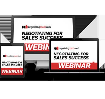Negotiating for Sales Success Free Webinar